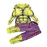 Pijamas De SuperhéRoe para NiñOs Pantalones De Manga Larga para NiñOs Y NiñAs Ropa para El Hogar Conjunto De Ropa De Dormir De Dos Piezas Disfraz De Cosplay, Hulk-150