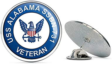 US Navy USS Alabama SSBN-731 Veteran Military Veteran USA Pride Served Gift Metal 0.75