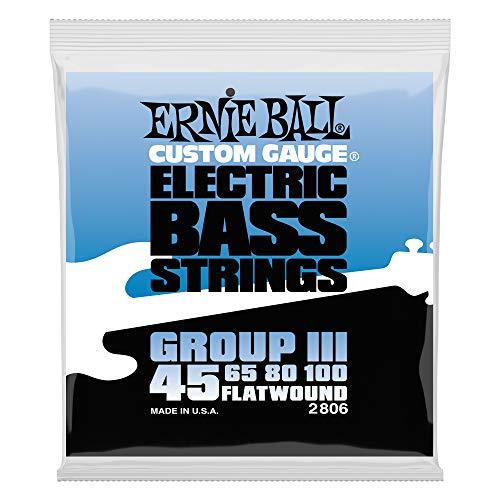 Cordes de basse électrique Ernie Ball Flatwound Groupe III - Calibre 45-100
