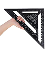 12 Inch Aluminium Driehoek Liniaal, Hoge Precisies Vierkante gradenboog Dakbedekking Vierkante Schaal Speed Carpenter Framing voor Engineer Carpenter