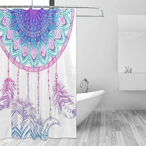 Duschvorhänge, Indianer, Talisman, Traumfänger, Badezimmer-Dekor-Set mit Haken, 183 cm lang