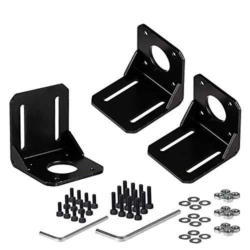Stepper Motor Mounting Bracket, 3PCS Alloy Steel L Bracket for Nema 17 Stepper Motor with Screws and Inner Hexagon Spanner
