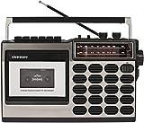 Crosley CT100A Retro Portable Cassette Player with...