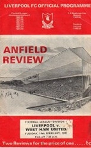 Liverpool Vs West Ham 70-71 Seizoen - Voetbalprogramma