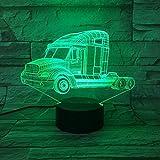 Nur 1 Stück Heavy Trucks 3D Nachtlicht Autolampe USB Wechsel Touch Schalter LED...