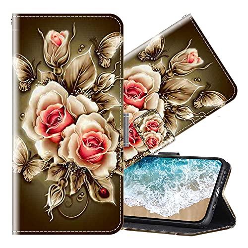 Cherfucome Funda para Xiaomi Mi A1 Carcasa Libro Flip Case Magnético Funda de Cuero PU Carcasa Xiaomi Mi A1 Funda Móvil Case Flip Leather Wallet [B07*Rosa]
