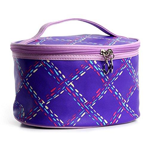 kingko Trousse de maquillage Imperméable Portable Entrancing multifonctions Voyage cosmétique Sac de maquillage Toiletry Pouch (Violet)