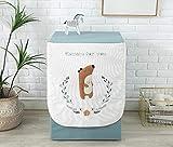Abdeckung Für Waschmaschinen,Waschmaschinenbezug, Waschmaschine Staubschutz, Wasserdichte Abdeckung Für Waschmaschine Frontlader Trockner (Süßer Kleiner Bär(L65*W60*H85Cm))