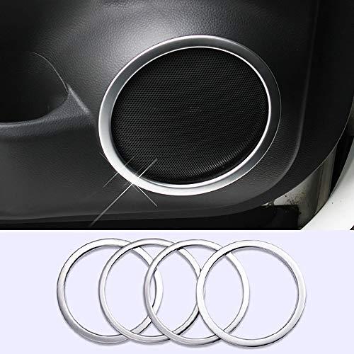 NA 4 Piezas Cubierta de Altavoz Interior Ajuste Puerta Lateral estéreo Bisel Collar Anillo guarnición moldura ABS para Nissan Qashqai 2014 2015 2016 2017