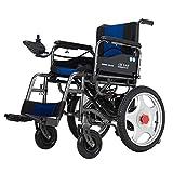 HGGLY Silla De Ruedas Ligera Eléctricas Plegable Scooter con Mando A Distancia Y Doble Suspensión De Muelle para Pacientes Ancianos Discapacitados
