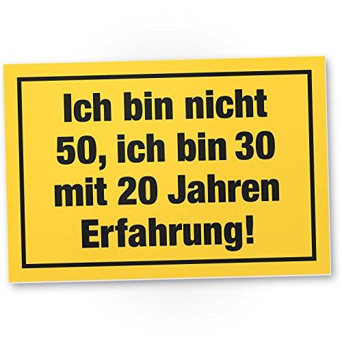 Bedankt! Ich Bin nicht 50 jaar, plastic bord - Cadeau 50 verjaardag, cadeau-idee verjaardagscadeau vijfstigste, verjaardagsdeco/feestdecoratie/feestaccessoires/verjaardagskaart