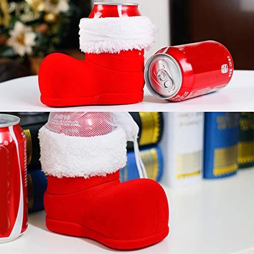 Tianhaik Navidad Cerveza Cola Puede Pie Botas con Forma de Bota Tapa de Botella de...