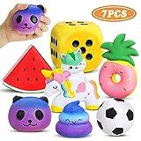 Lenbest 7 Stück Kawaii Squishies Mini Squishy Spielzeug - Anti-Stress Dekompression Langsam Steigende Creme Duftende Set für Kinder Erwachsene Mädchen Jungen