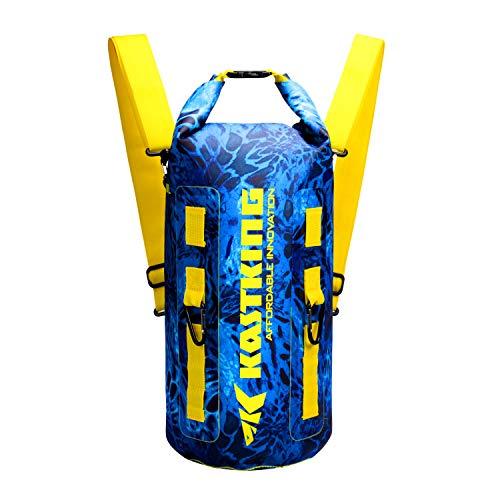 KastKing Downpour Floating Waterproof Dry Bags, Shoreline Backpack, 20L