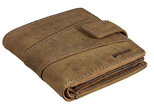 Pranke Damen Herren Echt Leder Geldbörse Antik Vintage Braun