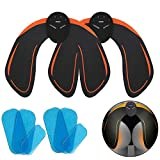 ABS Hip Trainer 2 Pack, EMS Buttocks/Hips Trainer Muscle Toner with 6 Free Gel Sheets Smart Fitness Training Gear Home Office Ab Workout Equipment for Women