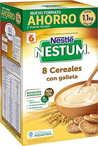 Nestlé Papillas Nestum Getreide für Babys, 8 Müsli mit Keks, Sparpackung: 1,1 kg