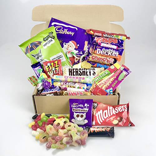 Christmas Sweet & Chocolate Candy Hamper - Retro Mix Large Selection Gift Box
