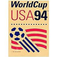 ワールドカップポスタープリントみすぼらしいシックなヴィンテージの壁の写真キャンバスウォールアートサッカー愛好家コレクションギフト50x70cmx1フレームなし