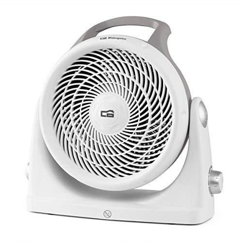 Orbegozo Chauffage Compact, 3 Positions de Fonctionnement, Thermostat réglable, Protection Contre la surchauffe, Rotation 90°, 2000 W, Blanc