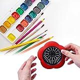 Ruisita 6 Stück Acryl Ausgießer Sieb Acryl Kunststoff Silikon Sieb Blume Abfluss Korb für Farbe Ausgießen Zubehör (Farbe Set B) - 7