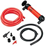 Koehler Enterprises RA990 Multi-Use Siphon Fuel Transfer Pump Kit (for Gas Oil and Liquids), Red