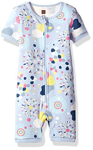 Tea Collection Girls' Emiana Baby Pajamas, Lavender Blue, 9_12