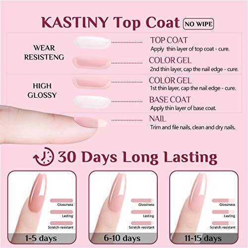 Smalto Semipermanente, Kastiny 6 Colori Gel Unghie UV LED, con Base e Top Coat, Kit Manicure Smalti per Unghie Autunno Inverno Rosso