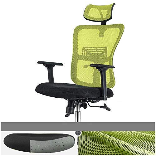 Wohnaccessoires Home Office 45 Grad liegend ergonomisches Bambuskohle-Latexkissen Esport-Lerndrehstuhl 3 Farben erhältlich 360-Grad-Drehstuhl (Farbe: Grün) Grün