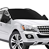 CHERYLON Car Windshield Snow Cover with Side Mirror Covers for Most Vehicles, Cars Trucks Vans and SUVs, Ice Removal Wiper Visor Protector (Front Cover)