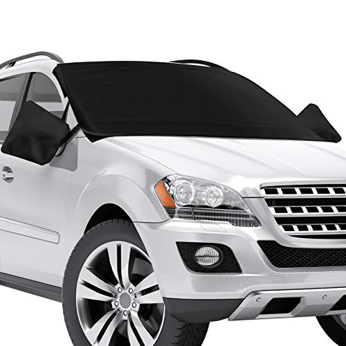 Truck Van or Autom Snow Shade Car Cover SUV Auto Windshield for Fits Car BSTpower Protable Magnetic Windshield Cover with Ice Removal Wiper/&Visor Protector for All Weather