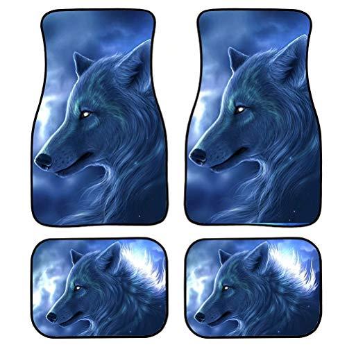 Alfombrillas de coche Chaqlin Animal Wolf para mujeres y hombres, para todo tipo de clima, resistentes, a prueba de polvo, resistente al desgaste, ajuste universal para la mayoría de los coches