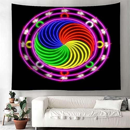 YYRAIN Tapiz De Mandala Tapices De Pared Hippie Bohemio Tapices De Pared Decoración para El Hogar Dormitorio 200x150cm B