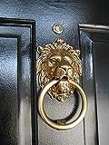 Premium Quality 8' Brass Lion Door Knocker Knockers Gate Knocker Door Accessories Solid Antique Finish Vintage Look Home Decor Door Accessories