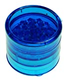BLUE STRONG PLASTIC HERB GRINDER WITH SHARK TEETH,5 PART