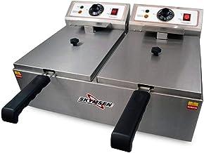 Fritadeira elétrica 10l inox 2 cubas fed 20 n - skymsen - 110V