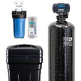 "Aquasure Water Softener w/Aquatrol Digital Head and 10"" Sediment Dual Purpose Whole House Water Filter (64,000 Grains)"