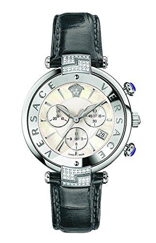 [ヴェルサーチ]Versace 腕時計 'REVE' Swiss Quartz Stainless Steel and Leather Casual VAJ070016 レディース [並行輸入品]
