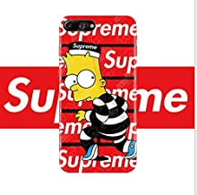 Cartoon Case for iPhone 7 Plus 8 Plus, Cartoon Trend Street Fashion Easygrip Classic Red Designer Style Protective TPU Case Cover for iPhone 7Plus 8Plus