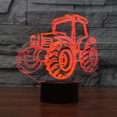 3D Traktor Glühen LED Lampe 7 Farben erstaunliche optische Täuschung Art Skulptur Ferneinstellung Lichter produziert einzigartige Lichteffekte und 3D-Visualisierung für Home Decor-kreative Geschenk