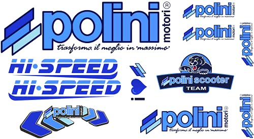 senza marca Polini - Kit de adhesivos para scooter y moto de motocross, 11 unidades