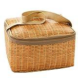 muxiao - Bolsa para el almuerzo, bolsa isotérmica, pequeña bolsa para el trabajo y la escuela, bolsa térmica, bolsa de picnic