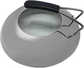 Zljiont Thicken 12'' Stainless Steel Dome with Clear Glass Visible, Anti-hot handle Integrated Round Visual Pot Cover fits Lodge's 12 Inch, Deep Skillets, and 7 Quart