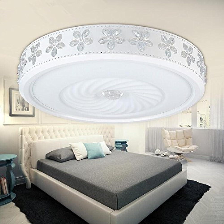 Xiangxin lampLED lumière plafond plafond rond, salle de séjour, chambre à coucher moderne, télécomhommede, salle à hommeger, balcon,42CM- triCouleur -24W