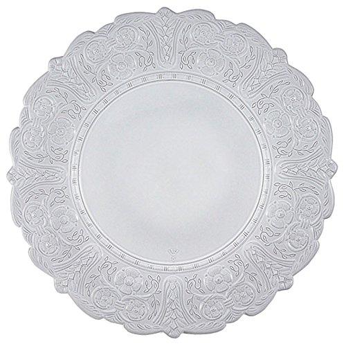 Faiencerie de nider Badonviller Grand Siècle Assiette Blanc 32 cm