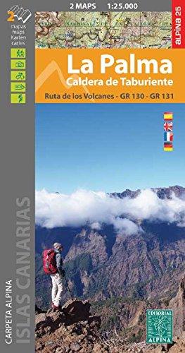 La Palma 1:25 000: Caldera de Taburiente. Ruta de los Volcanos GR 130 - GR 131