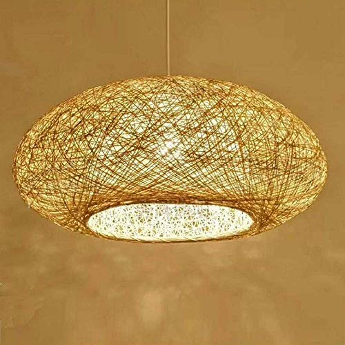 Chandelier, Bamboo Restaurant Decor Droplight Pendant Lamp Light Antique Loft Wicker rotan kroonluchter armatuur Chain Verstelbare