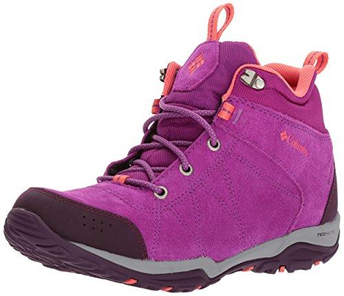 Columbia Fire Venture Mid, Chaussures Multisport Outdoor Femme, Violet (Intense Violet/Melonade 519), 37.5 EU