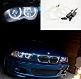Unipower TMT Leds(TM) Kit CCFL Angel Eyes Compatible con BMW E46 Series 3 Sin PROYECTORES o Xenons Aros Angel Eyes 2 X 131MM 2 X 145MM