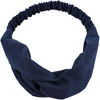 Kulywon Womens Headband Pure Color Hairband Bow Tie Velvet Wide-Brimm Headwrap Hair Band 2020